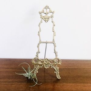 Vintage Ornate brass picture or plate easel